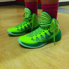 "Hoosac Valley girls basketball player McKenzie Robinson calls her sneakers ""lime green."""