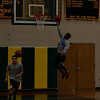 Taconic's Shaq Ardrey puts up a lay-up during boys basketball tryouts. (Matthew Sprague / Berkshire Eagle Staff)