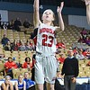 GEOFF SMITH - THE BERKSHIRE EAGLE<br /> Hoosac Valley sophomore Alie Mendel goes up for a layup against Lunenburg in the MIAA Division III state semifinals at the DCU Center. March 13, 2017.
