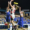 GEOFF SMITH - THE BERKSHIRE EAGLE<br /> Hoosac Valley senior Kailynne Frederick goes up for a layup against Lunenburg in the MIAA Division III state semifinal at the DCU Center. March 13, 2017.