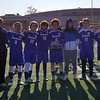 GEOFF SMITH — THE BERKSHIRE EAGLE<br /> Members of the Drury boys soccer team pose with the runner-up trophy after falling to Lenox, 4-0, in the Western Massachusetts Division IV championship game on Sunday.