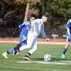 GEOFF SMITH — THE BERKSHIRE EAGLE<br /> Lenox's Mike Abdalla dribbles up the field against Drury during Sunday's Western Massachusetts Division IV championship game.