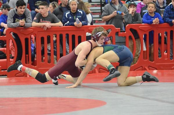 MIAA Division III wrestling tournament at Wakefield Memorial High School-021817