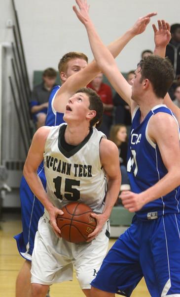 McCann Boys Basketball plays Pioneer Valley Christian - 010317