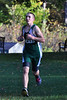 Justin Schneider, a McCann senior, finishes the first loop of Tuesday's cross country meet against Franklin Tech. Schneider was the first McCann boy to cross the finish line. (Jack Guerino/ North Adams Transcript)