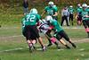 C.J. Deleroy tackles Pioneer Valley offense. (Jack Guerino/North Adams Transcript)