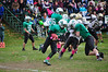 Levi Lawson makes a run up the side of the field. (Jack Guerino/North Adams Transcript)
