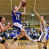 GEOFF SMITH — THE BERKSHIRE EAGLE Wahconah's Kevin Huban goes up for a layup attempt during Tuesday's Western Massachusetts Division III semifinal game against Monument Mountain at UMass.