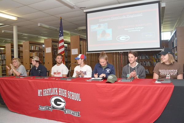 Mount Greylock Regional High School athletes sign letters of intent - 051817