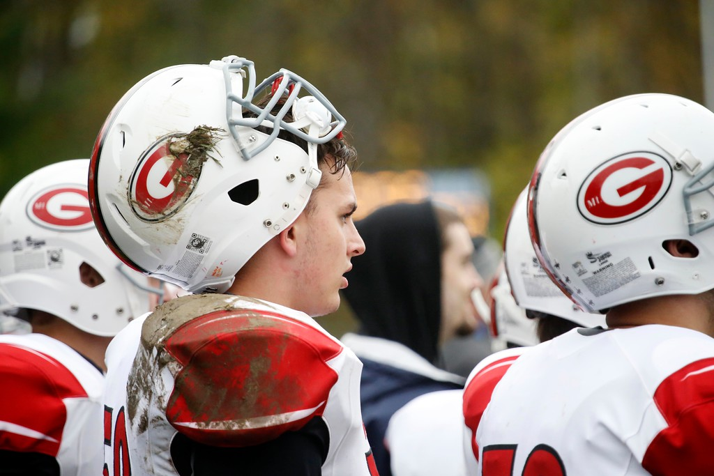 . The Mount Greylock football team continues its undefeated streak with a 52-12 win over Drury at Drury High School in North Adams. Saturday, October 29, 2016. Stephanie Zollshan � The Berkshire Eagle | photos.berkshireeagle.com