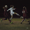 Sophie Leamon takes a shot on goal. (Jack Guerino/North Adams Transcript)