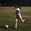 Sophie Leamon moves the ball towards the goal and looks for an open shot. (Jack Guerino/North Adams Transcript)