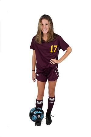 BEN GARVER — THE BERKSHIRE EAGLE<br /> Nicole Gamberoni, 18, Lenox Soccer.