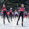 Mt. Greylock skiers burst out to a quick start during the Boys' JV race.