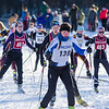 Wahconah's Julia Trager tries to stay ahead of a pack of Mt. Greylock skiers during the Girls' JV race Sunday.