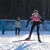 Mt. Greylock skier Josie Smith rounds the final turn to place first in the Girls' JV Nordic ski race Sunday.