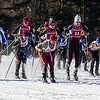 The start of the Boy's Varsity Nordic Ski race Sunday at Wahconah High School.
