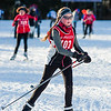 Ainsley Abel makes her way ahead of two other Mt. Greylock skiers during Sunday's JV Race.