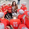 BEN GARVER — THE BERKSHIRE EAGLE<br /> The Pittsfield American Little League All-Star team meets with Mayor Linda Tyer at City Hall.