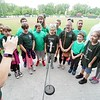 BEN GARVER — THE BERKSHIRE EAGLE<br /> Pittsfield Suns fans from local schools were treated to a special Suns game against Bristol. A choir from Crosby Elementary School sung the National Anthem.