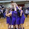 GEOFF SMITH - THE BERKSHIRE EAGLE<br /> The Pittsfield girls basketball team celebrates winning the Western Mass. Division II championship. March 11, 2017.