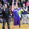 GEOFF SMITH - THE BERKSHIRE EAGLE<br /> Pittsfield senior Peyton Steinman lifts up the Western Mass. Division II championship trophy. March 11, 2017.