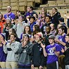 GEOFF SMITH - THE BERKSHIRE EAGLE<br /> Pittsfield fans clap for Peyton Steinman at the end of the MIAA Division II state semifinal game against Medfield. March 13, 2017.