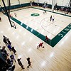 BEN GARVER — THE BERKSHIRE EAGLE<br /> The Taconic Braves had their first day of basketball practice in the new gym, Monday, November 26, 2018.