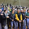 GEOFF SMITH - THE BERKSHIRE EAGLE<br /> The Taconic fan section cheers after a made basket during the Western Mass. Division II championship game against Longmeadow. March 11, 2017.