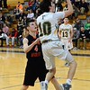 GEOFF SMITH - THE BERKSHIRE EAGLE<br /> Taconic's Jack Cooney shoots a layup against South Hadley.