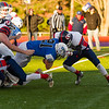 Tanner Hastings earns a first down for his team in the Division VII championship Saturday.