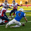 Ethan Scott dives on a Frontier fumble during the opening kickoff of the Division VII championship game.