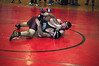 Mark Leon-Deque, from Monument Mountain, wrestles Charles Whittemore, from Rutland, during a wrestling match at Mount Greylock High School Saturday. (Jack Guerino/North Adams Transcript)