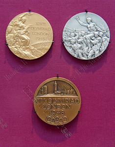 Olympic medals,1948,London,Londen,Londres,Great Britain,Groot-Brittannië,Grande Bretagne Olympic Games 2012 London