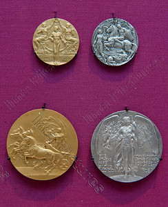 Olympic medals,1908,London,Londen,Londres,Great Britain,Groot-Brittannië,Grande Bretagne Olympic Games 2012 London