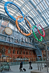 6-74-01-0067 St Pancras station Olympic games,Olympische spelen,jeux Olympic, London,Londen,Londres Great Britain,Groot-Brittannië,Grande Bretagne