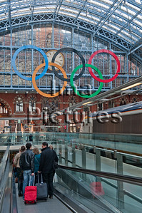 6-74-01-0066 St Pancras station Olympic games,Olympische spelen,jeux Olympic, London,Londen,Londres Great Britain,Groot-Brittannië,Grande Bretagne