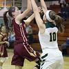 Anna Robinson of Avon Lake shoots over Kamryn Dziak of Amherst during the third quarter. Randy Meyers -- The Morning Journal