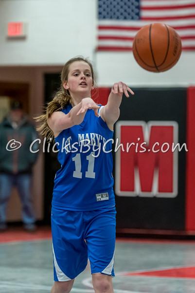 Basketball Girls 7-8 Montmorency vs St. Marys - Tuesday, Feb. 10, 2015 - Frame: 4627
