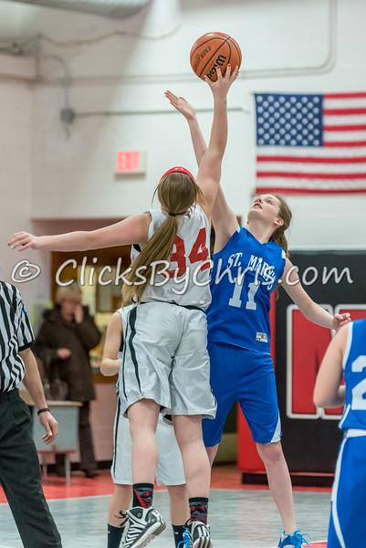 Basketball Girls 7-8 Montmorency vs St. Marys - Tuesday, Feb. 10, 2015 - Frame: 4543