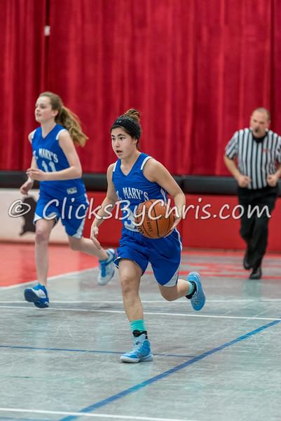 Basketball Girls 7-8 Montmorency vs St. Marys - Tuesday, Feb. 10, 2015 - Frame: 4547