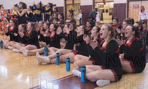 02-19-17 Westfield Bombers cheer squad