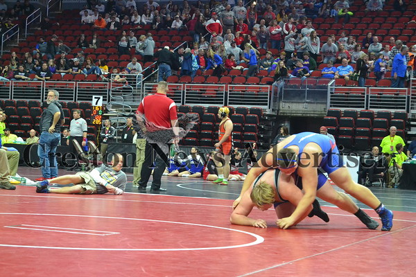 02-20 State wrestling Class 1A Thursday