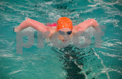Brook Hill School senior Bailey Bickerstaff, 18, of Tyler, swims a butterfly stroke Jan. 26, 2016 at her swim practice at Metroplex Aquatics in Tyler. Bickerstaff competes both for Metroplex Aquatics and also as the sole athlete on the Brook Hill swim team.   (Sarah A. Miller/Tyler Morning Telegraph)