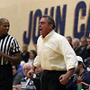 Tim Phillis - The News-Herald<br /> John Carroll coach Mike Moran, shown during the Blue Streaks' victory over Baldwin Wallace on Jan. 18, 2017.