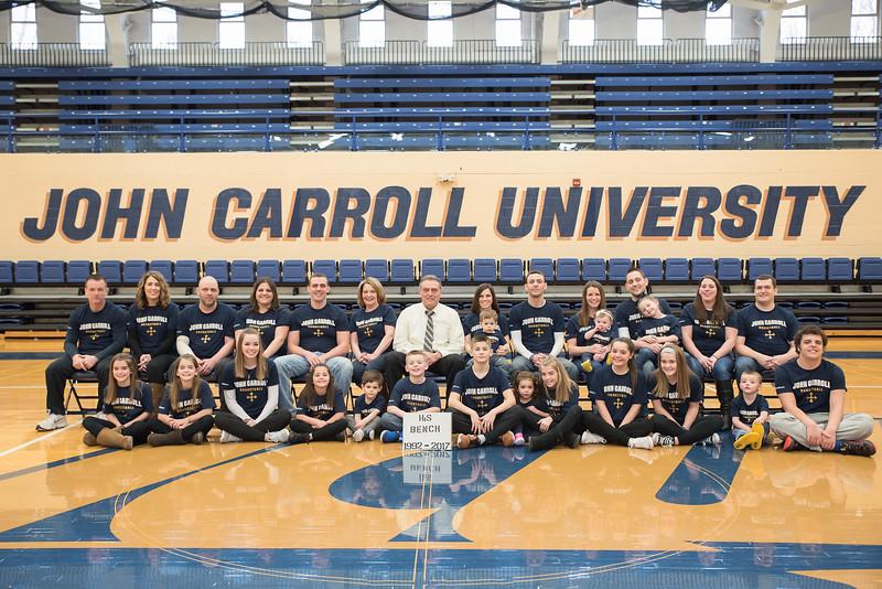 The Moran family, taken at John Carroll University this season.