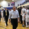 Tim Phillis - The News-Herald<br /> John Carroll University honored retiring men's basketball coach Mike Moran on Feb. 18. The Blue Streaks lost to Capital, 76-75.
