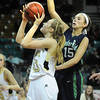 "Monarch High's Mae Williams (43) shoots as Thunder Ridge High's Taylor Chase (15)defends during their game at the Denver Coliseum on Saturday March 3, 2012.<br /> Photo by Paul Aiken / The Daily Camera /  <a href=""http://www.bocopreps.com"">http://www.bocopreps.com</a>"