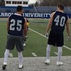 Mark Podolski - The News-Herald<br /> Anthony Christopher, left, and Mason McKenrick during John Carroll's first day of spring practice on March 26.