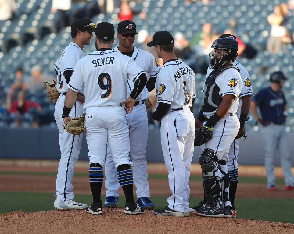 . Tim Phillis - The News-Herald Action from the Akron-Binghamton game April 30 at Canal Park in Akron.